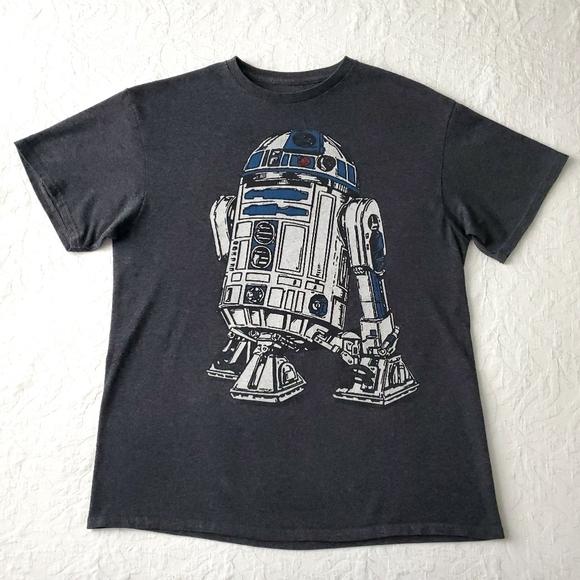Star Wars R2-D2 Dark Gray Short Sleeve T-Shirt LG
